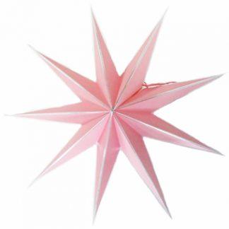 Julstjärna papper rosa 9 stjärnig