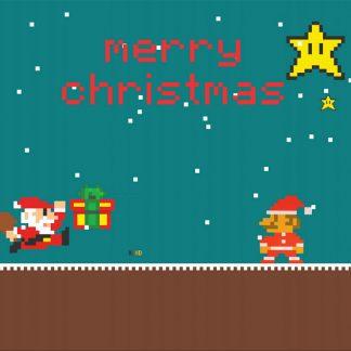 Merry Chrstmas from Super Mario - julkort