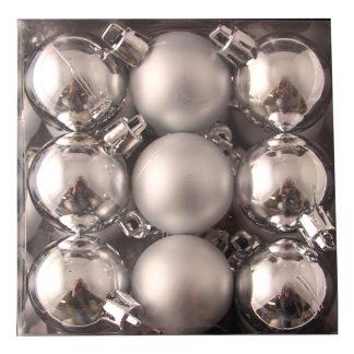 Julgranskulor Silver Små - 18-pack
