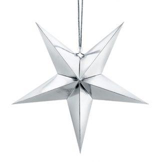 Julstjärna Silver 70 cm
