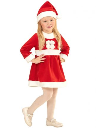 Santa Claus Girl Tomteklänning Barn (X-Small (6-12 månader))