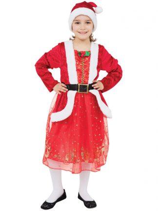 Santa Girl Tomteklänning Barn (Small (4-5 år))