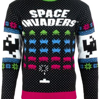 Licensierad Stickad Space Invaders Jultröja