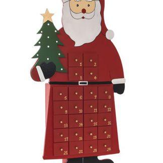 Tomte Julkalender i Trä 50x27 cm