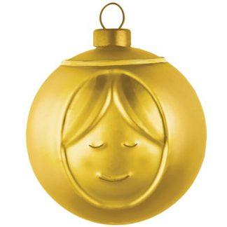 Alessi - Guldiga julgranskulor, Maria
