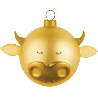 Alessi - Guldiga julgranskulor, Oxe