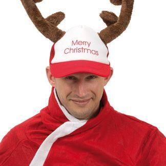 Merry Christmas Keps med Renhorn