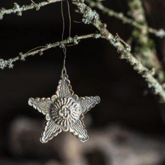 Julstjärna i metall, antik look