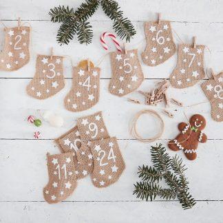 Adventskalender Fyll-dina-egna Julstrumpor