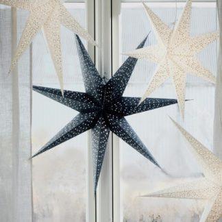 Julstjärna Helsinki, blå/silver