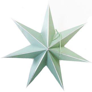 Julstjärna papper mint 7 stjärnig