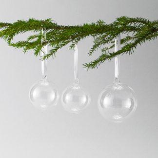 Designtorget Julkulor klarglas 4-pack