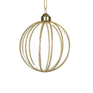 Julgranskula gammaldags guld rund