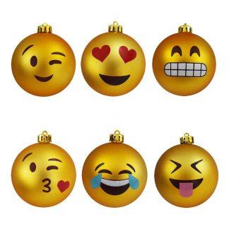 Julgranskulor Emoji - 6-pack