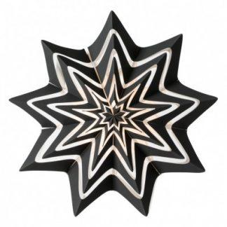Julstjärna, Storm 60 cm, svart