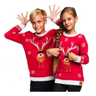 Make It Rein Röd Jultröja för Barn - Small