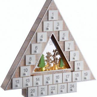 Julgran Julkalender med LED-Ljus 34x35 cm
