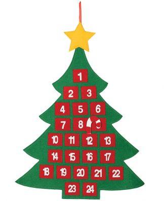Julgransformad Julkalender med 24 Luckor 69 cm