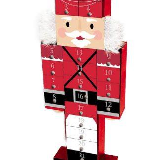 Nötknäppare Julkalender i Trä 44x17 cm