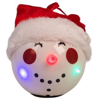 Julkula med LED Belysning Snögubbe