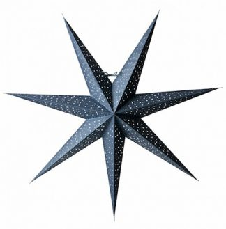 Helsinki Julstjärna Blå/Silver 80 cm