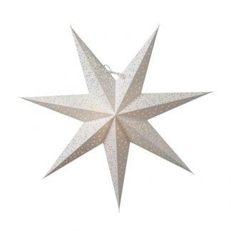 Helsinki Julstjärna Vit/Silver 60 cm