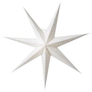 Helsinki Julstjärna Vit/Silver 80 cm