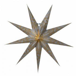 Iris Julstjärna Silver/Guld 80 cm