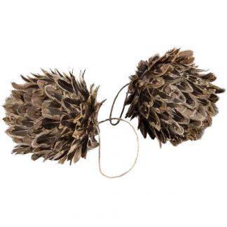 Julgranskula Fjäder Brun 12 cm