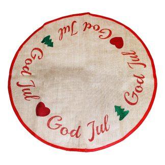 Julgransmatta God Jul