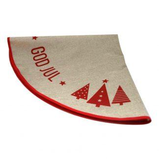 Julgransmatta God Jul med Granar - 100 cm