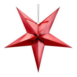 Julstjärna i Papp Röd