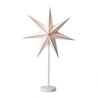 Linje Julstjärna Röd/Kalix Vit 44 cm