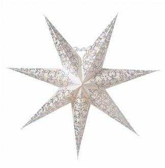 Ludwig Julstjärna Vit/Silver 44 cm