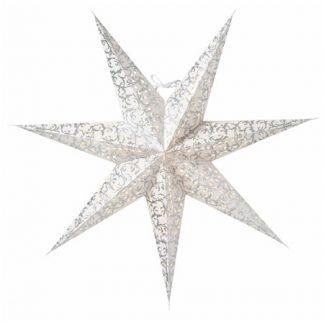 Ludwig Julstjärna Vit/Silver 80 cm