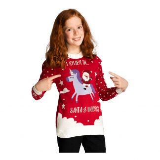 Santas & Unicorns Jultröja för Barn - Small