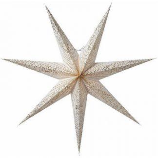 Skina Julstjärna Vit/Guld 80 cm
