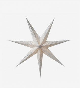 Skina Julstjärna Vit/Silver 80 cm