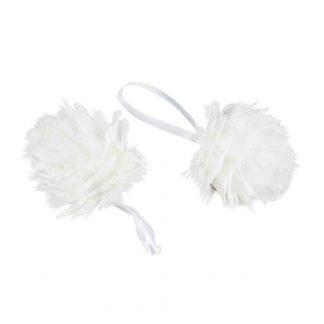 Julgranskula Fjäder Snow vit 8 cm