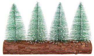 Bordsdekoration Granar på trästock
