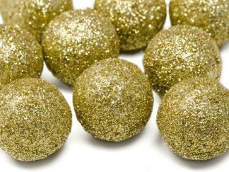 Dekorationsbollar Glitter - Mellan Silver