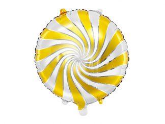 Folieballong Karamell Guld