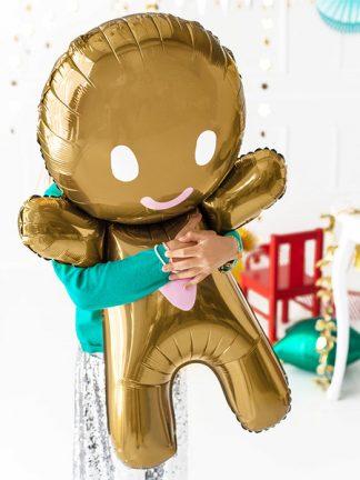 Folieballong Pepparkaksgubbe