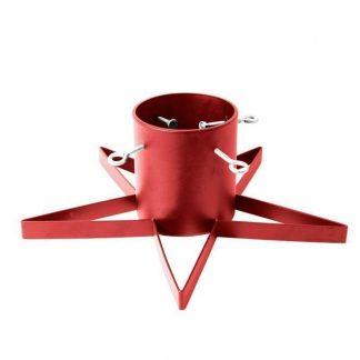 Julgransfot Stand Star - Röd