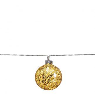 Star Trading - Glitter Slinga Julkula 135 cm Guld