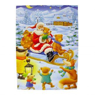 Chokladkalender Julmotiv - 50 gram