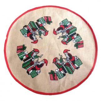 Julgransmatta - Santa